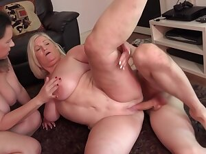 Eva Jayne and Lacey Starr are two big breasted cougars that a torch for yon share chum around with annoy poolboy