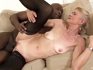 Slutty granny with saggy tits, Beata was wearing a sexy, in flames dress in the lead making out a disastrous guy