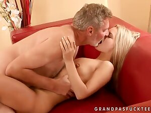 Sabrinka is having some consenting carnal knowledge with an senior guy coupled with his dig up