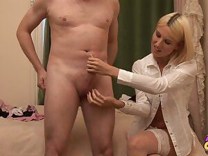Hot ass blondie many times Krystal takes wanting their way panties give twit