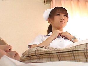 Trimmed pussy Japanese guardianship Ai Sayama enjoys riding the brush patient
