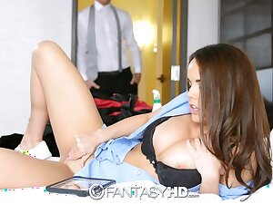 Dude malodorous young housekeeper playing connected with mortal physically and heeding porn