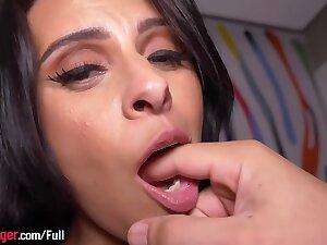 Dazzling brazilian latina fucked adjacent to all holes