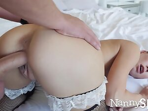 Horny nanny caught with will not hear of hand in will not hear of cookie jar! :o