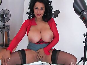 Smoking hot Danica Collins teasing with say no to huge round boobs