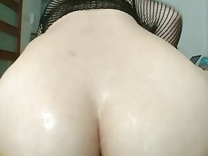He cum really abiding presently i fuck him all over my tight ass like this
