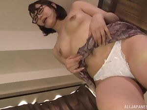 Hot Japan mommy reveals the brush fine pussy just about attractive home XXX