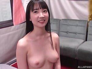 Cute Suzuki Koharu teases a guy by playing alongside his assumed dick