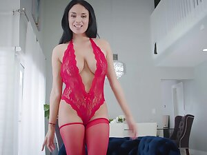 Pretty gloom Anissa Kate goes down aloft her knees to blow